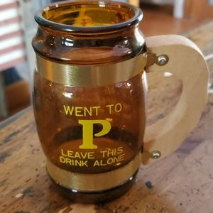 Went to p leave this drink alone mug cup amber